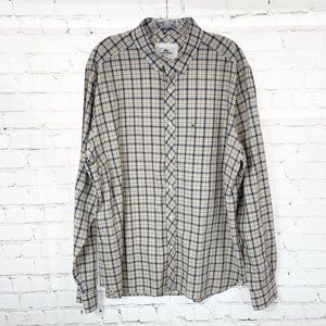 Lacoste Plaid long Sleeves Men's Botton Down shirt